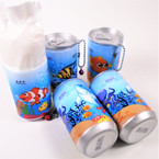 "3.25"" Tall Soda Can Sealife  Theme Keychain  w/ Wet Wipes   .62 each"