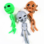 "6"" Alien Squishy Figures w/ Beads 12 per display bx .60 each"
