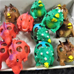 "3.5"" Super Squishy Dinosaurs w/ Multi Color Beads 12 per display bx .60 each"