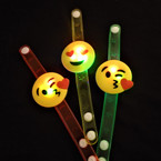 Light Up Flashing Emoji  Bracelets 12 per pk .56 each