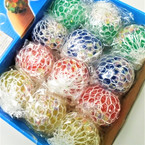 "2"" Squishy Jelly Bead Balls 12 per display .56 each"