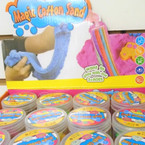 "2"" X 3"" New Colorful Magic Cotton Sand  12 per display bx .60 each"