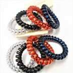 Popular 4 Pack 4 Colors As Shown Phone Cord Look Ponytailers .54 per set