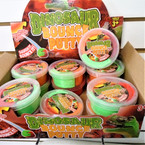 "3.25"" 3 Tone Dinosaur Theme Bounce Putty 12 per display bx .79 each"