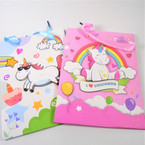 "7"" X 9"" Unicorn Theme 3D Gift Bags 12 per pk .52 each"
