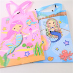 "7"" X 9"" Mermaid Theme 3D Gift Bags 12 per pk .52 each"