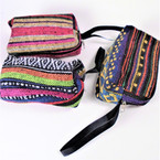 "Big 3.5"" X 5"" Aztec Coin Purse w/ Zipper & Handle  .58 each"