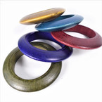 "4"" Dim Asst Color Wood Fashion Bangles .58 each"