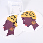 "3"" Elegant African Women w/ Gold Turban .45 each pair"