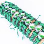 Leather Bracelets w/ Saint Jude of Healing Photo 12 per pk  .54 each