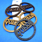 "3"" Wood Earrings Queen Theme 3 colors .54 per pair"
