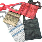 "5"" X 6.5"" Designer Look Side Bags w/ Strap 4 colors .58 each"