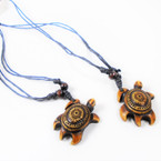 DBL Leather Cord Necklace w/ Turtle Pendants .56 each