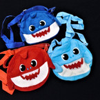 "8"" X 8"" Shark Theme Zipper Bag w/ Long Adj. Strap 12 per pk $ 2.80 each"