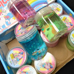"2"" X 3"" New Colorful Unicorn  Slime 12 per display bx .58 each"