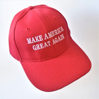 MAGA All Red Baseball Caps sold by pc  $ 2.50 per hat