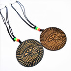 DBL Leather Cord Necklace w/ Egyptian Eye Pendant .52 each