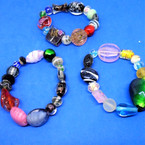 MIxed Style Glass Beaded Fashion Stretch Bracelets .56 each