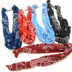 Soft & Stretchy Bandana Print Knot Headwraps .54 each