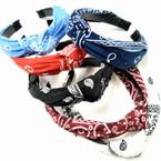 Soft Fabric  Bandana Print Knot Fashion Headbands .54 each