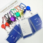 Asst Color Clip  ID Card Holder Retractable  .54 ea