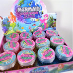 "2"" X 3"" Mermaid Ocean World Theme Crystal Mud 12 per display bx .58 eachch"