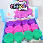 "2"" X 3"" New Colorful Magic Cotton Sand  12 per display bx .56 each"