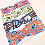 "3"" Stretch Headband  Print Design (5590)  .54 each"