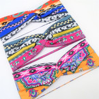 "3"" Stretch Headband  Print Design (5593)  .54 each"