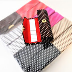 "3.5"" Mixed Color Poka Dot  Print  Lipstick Cases w/ Mirror .54 ea"