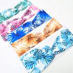 """3"""" Stretch Headband  Tropical Leaf  Pattern   .54 each"""