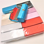 "3.5"" Mixed Solid Color Lipstick Cases w/ Mirror .54 ea"