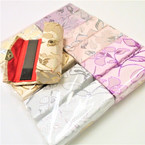 "3.5"" Metallic Floral Print Lipstick Cases w/ Mirror .54 ea"