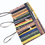 "4"" X 6.5"" "" Aztec Mixed Pattern 2 Zipper  Coin Purses w/ Wrislet  .60 each"