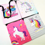 "5.5"" X 6.5"" Unicorn Theme Side Bags w/ Strap & Zipper .56 each"