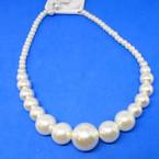 "16"" -18"" Cream Color Glass Pearl Neck Sets  .56 per set"