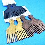 "2.75"" Wood Hair Pick Theme Fashion Earrings 3 colors .54 per pair"