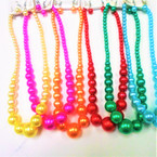 "16"" -18"" Mixed Summer Color Glass Pearl Neck Sets  .56 per set"