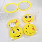 "Emoji Theme 2"" Round DBL Compact Mirror SPECIAL .49 each"