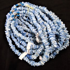 "Special 16"" Chipped Puka Shell Necklaces Lite Blue Dyed Chips $1.00 ea"