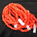 "Special 16"" Chipped Puka Shell Necklaces Orange Rose Color  $1.00 ea"