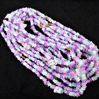 "Special 24"" Chipped Puka Shell Necklaces Multi Light Pastel Color .79 ea"