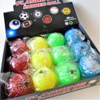 "2"" Light Up Spider Theme Balls 12 per display .58 ea"