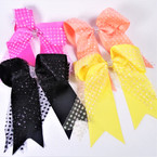 "5"" X 6"" Tail Gator Clip Bows w/ Sparkle Lace .54 each"