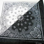 "NEW 21"" Square Two Tone Bandana White/Black .53 each"