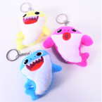 "3.5"" Plush Baby Shark Keychains 12 per pk .55 each"