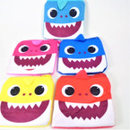 "4.5"" Plush Square  Baby Shark Zipper Coin Purses 12 per pk .54 each"