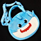 "8"" X 9"" 2 Handle w/ Long Strap Plush Shark Theme Handbag 12 per pk $ 3.00 each"