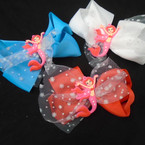 "5.5"" Mermaid Theme Gator CLip Bows w/ Sparkle Lace  .54 each"