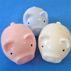 "3"" Piggy Theme Smash Squeeze Water Ball w/ Beads Inside 12 per bx .52 each"
